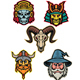 Warrior Wizard and Skull Mascot Collection