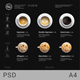Minimalist Photography Coffee Menu Dark Version - GraphicRiver Item for Sale