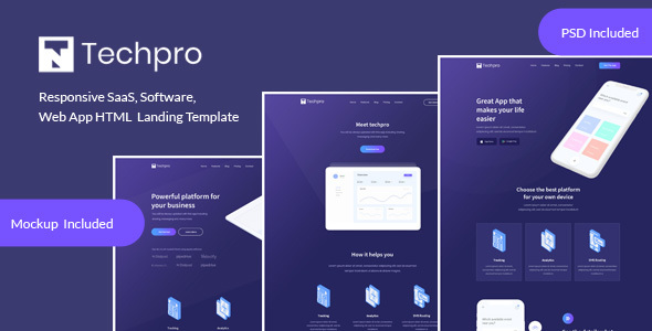 Techpro - App, Saas, Software & WebApp Landing Template