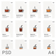 Coffee Glass and Cup Vector Menu Design
