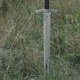 View of Sword in the Soil on the Steppe. Slowly - VideoHive Item for Sale