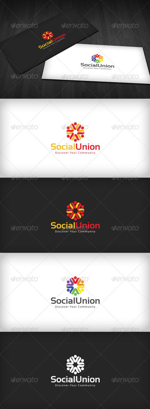 Social Union Logo - Humans Logo Templates