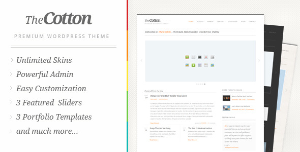 The Cotton – Powerful Minimalistic WordPress Theme
