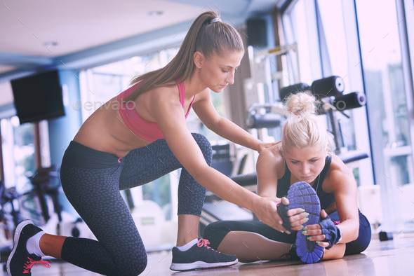 working out with personal trainer Stock Photo by dotshock   PhotoDune