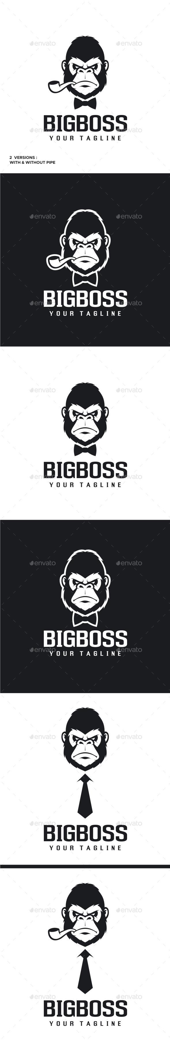 Big Boss - Gorilla Logo - Animals Logo Templates
