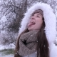 Girl Sticking out Tongue Catching Snow - VideoHive Item for Sale