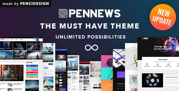 Image of PenNews - News/ Magazine/ Business/ Portfolio/ Landing AMP WordPress Theme