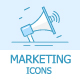 Marketing Outline Icons - GraphicRiver Item for Sale