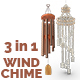 3d Rendered Wind Chime Collection
