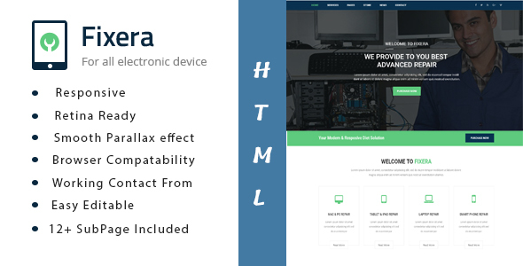 Image of Fixera - Electronics and Phone Repair HTML Template