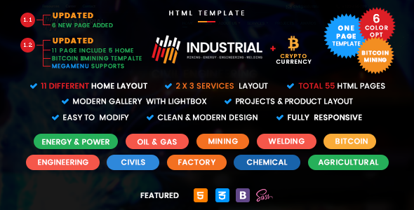 Industrial - Industry and Engineering Services Template - Business Corporate
