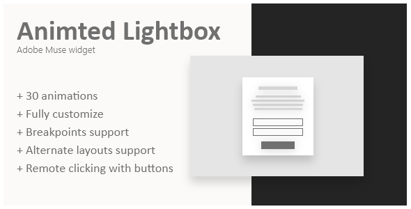 Animated lightbox | Adobe Muse widget Free Download | Nulled