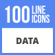 100 Data Filled Line Icons