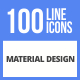 100 Material Design Filled Line Icons
