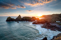 Sunset at Kynance Cove in Cornwall - PhotoDune Item for Sale