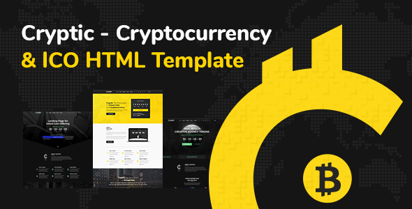 Cryptic - Cryptocurrency & ICO Landing Page HTML Template