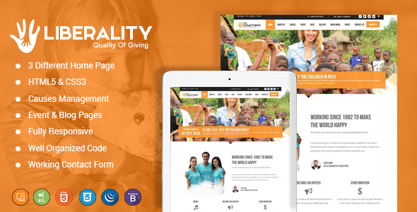 Image of Liberality Charity HTML Template