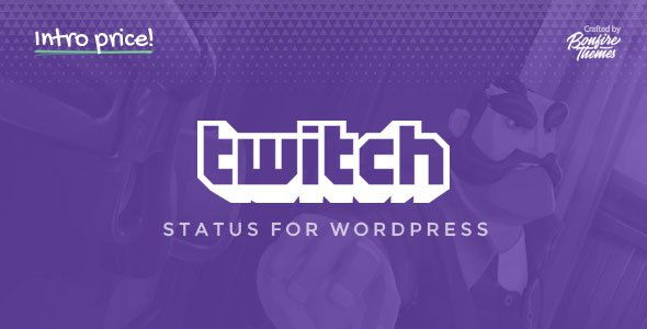 Twitch Status for WordPress            Nulled