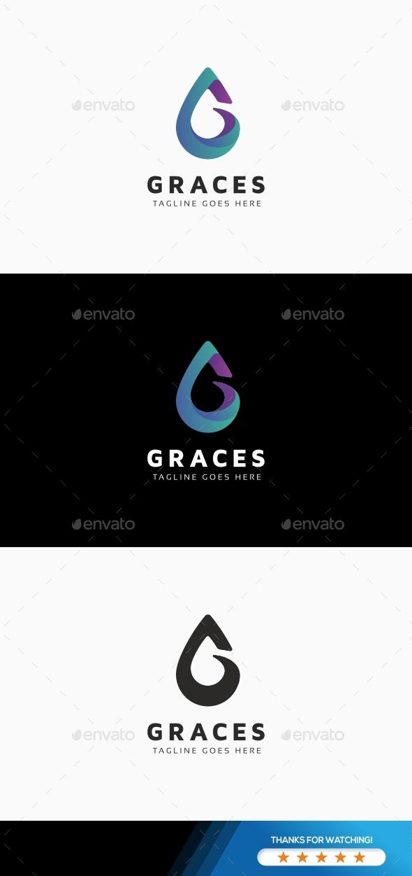 Graces G Letter Logo - Letters Logo Templates