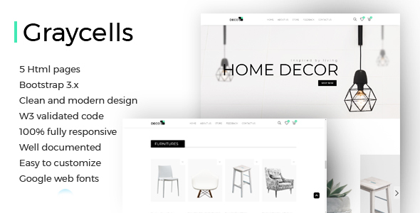 Image of Graycells - 5 Decor Landing Page