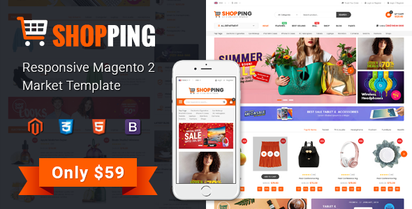 Image of Shopping - Multipurporse eCommerce Magento 2 Theme