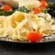 Black Plate with Tagliattele Pasta with Parmesan Cheese on - VideoHive Item for Sale