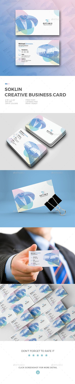Soklin Creative Business Card - Business Cards Print Templates