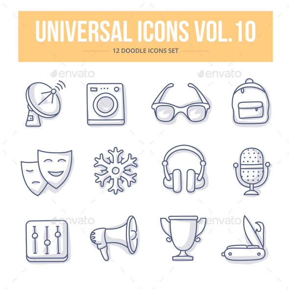 Universal Doodle Icons vol.10 - Objects Icons