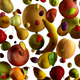 Fruit Falling on White 4k - VideoHive Item for Sale