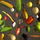 Vegetables Falling 4k - VideoHive Item for Sale