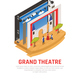 Grand Theatre Isometric Background