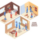 Home Repair Isometric Compositions