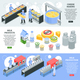 Milk Factory Isometric Banners