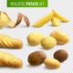 Realistic Potato Set