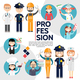 Flat Male And Female Professions Composition - GraphicRiver Item for Sale