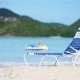 Sunbed on White Tropical Caribbean Beach - VideoHive Item for Sale