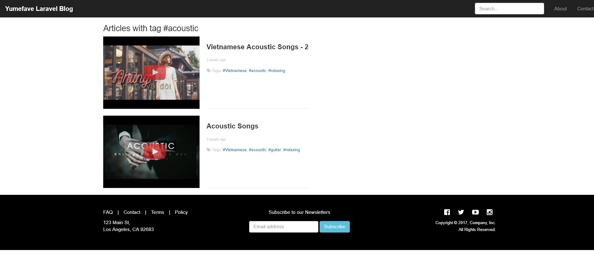 Yumefave Laravel News Blog By Vnitus Codecanyon
