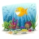 Underwater Landscape With Fish - GraphicRiver Item for Sale