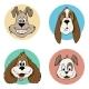 Cartoon Dog Avatar Icons - GraphicRiver Item for Sale
