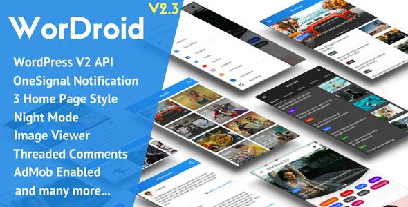 WorDroid - Full Native WordPress Blog App - CodeCanyon Item for Sale