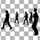 Sparse Silhouettes Walking - VideoHive Item for Sale