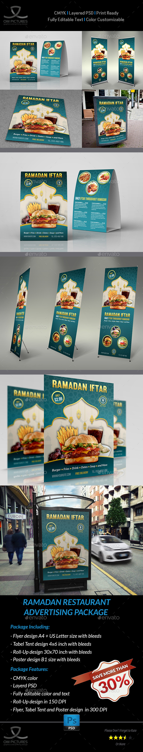 Ramadan Restaurant Advertising Bundle - Miscellaneous Print Templates