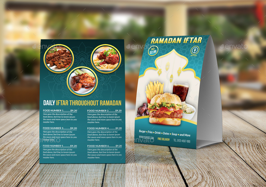 Ramadan Restaurant Advertising Bundle By OWPictures GraphicRiver - Restaurant table advertising