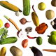 Vegetables Falling on White 4k - VideoHive Item for Sale