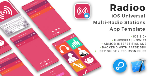 Radioo | iOS Universal Multi-Radio Stations App Template (Swift) - CodeCanyon Item for Sale