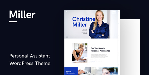 Miller | Personal Assistant & Administrative Services WordPress Theme - Business Corporate