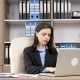 Young Businesswoman Working at Her Desk - VideoHive Item for Sale