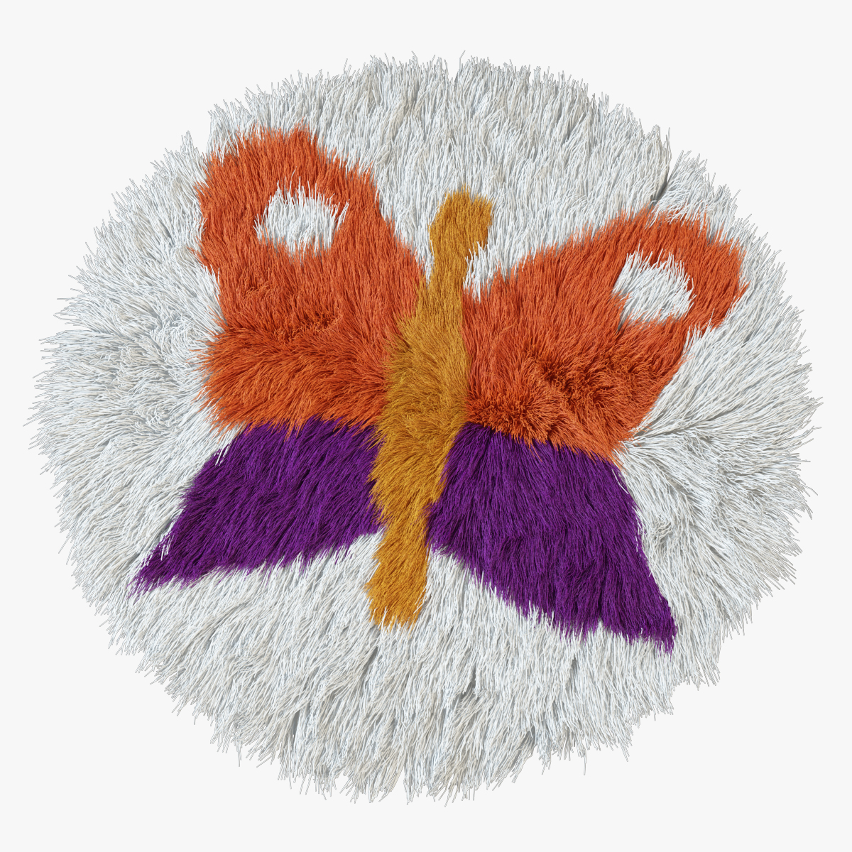 Carpet childrens butterfly