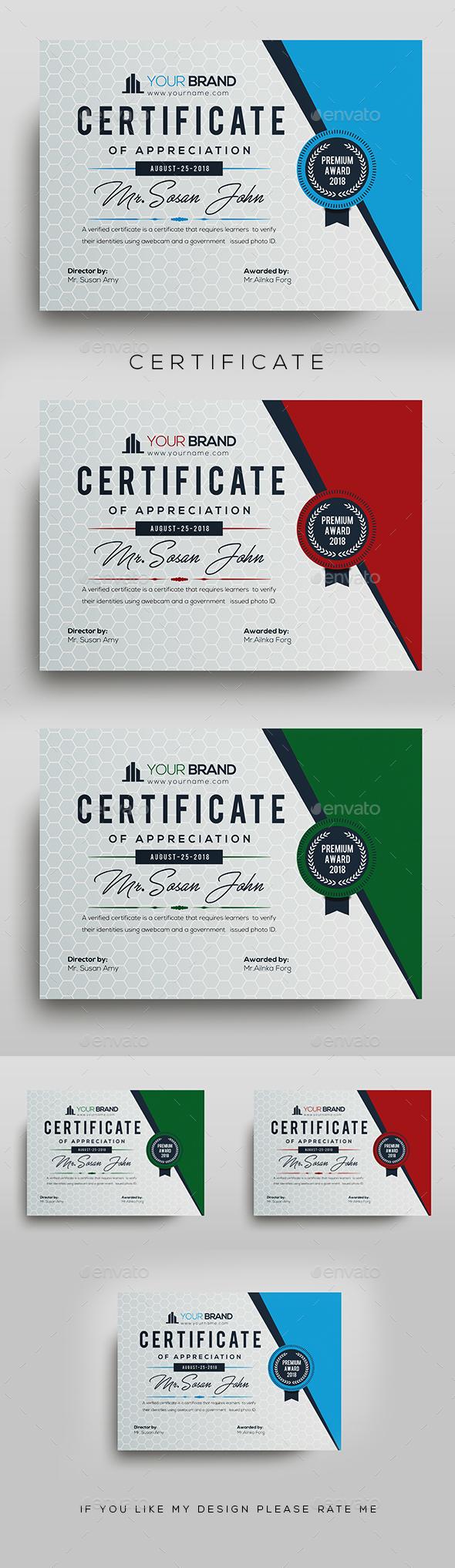 Certificate - Calendars Stationery