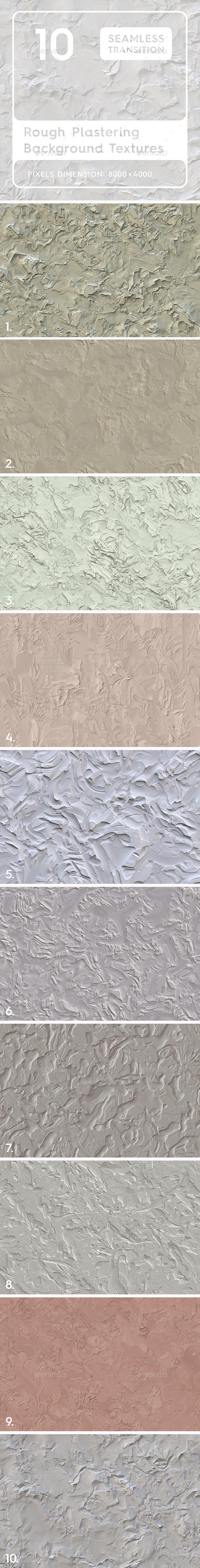10 Rough Plastering Textures - Industrial / Grunge Textures
